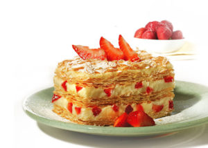 Millefeuille with strawberries