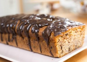 Lemon Cake with Chocolate and Nuts